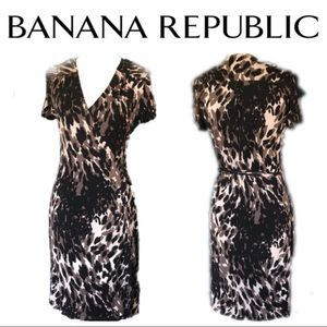 "Banana Republic ""Rome"" Silk Blend Wrap Dress"
